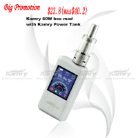 Good quality hottest e cigarette Kamry 60 custom box mod IMR 18650 battery