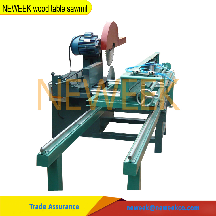 Neweek easy operation precision timber log plank sliding table saw wood table sawmill