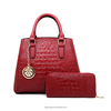 Wholesale new product pu leather lady sexy handbag bag purses women set bag 2pcs dubai handbags