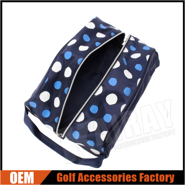 Custom Dot Nylon Golf Shoes Bags