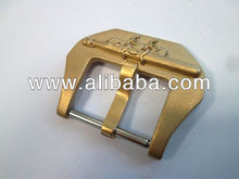 Sandblasted Bronze italian 3D assault torpedo watch strap buckle