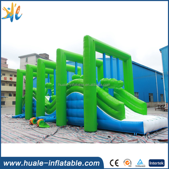 Used commercial giant inflatable obstacle course for sale