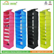 Hot Sale colorful Home storage style Hanging clothes organizers foldable closet shoes organizer