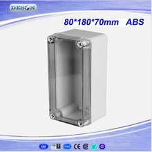 80*180*70mm Electrical ABS/PC IP66 Waterproof Enclosure With Clear Cover , Waterproof Box Series DS-AT-0818