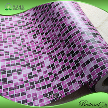 China Supplier Purple Mosaic Self-adhesive Vinyl Wallpaper/Decorative Film