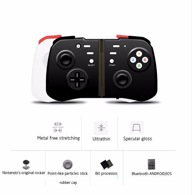 HandJoy Wireless Bluetooth Game Joystick Gaming Controller Gamepad For iPhone iPad Android Mobile Phones