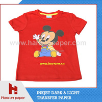 Inkjet Transfer Paper sublimation color dark pigment transfer paper for 100% cotton for flexible material