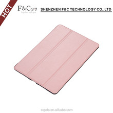 wholesale fancy hot pressing 3 folding pu leather shockproof case for covers ipad pro 9.7