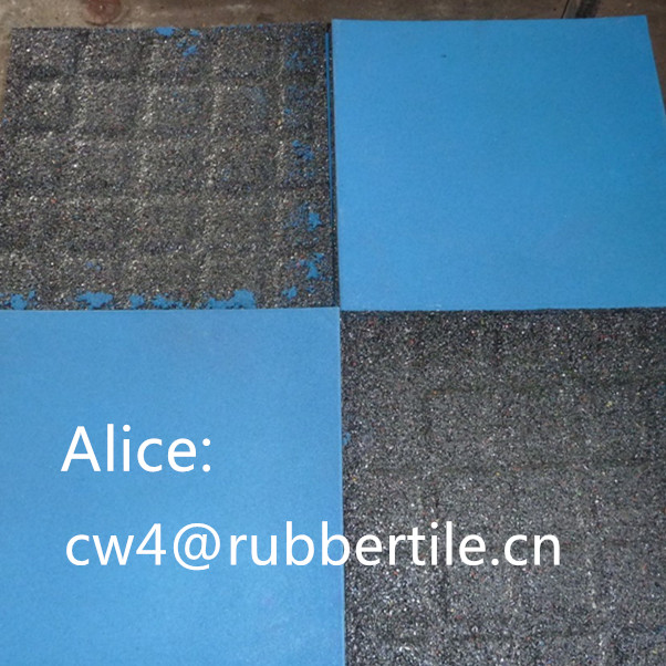 fire proof floor tile/Interlocking Wearing-resistant rubber tile