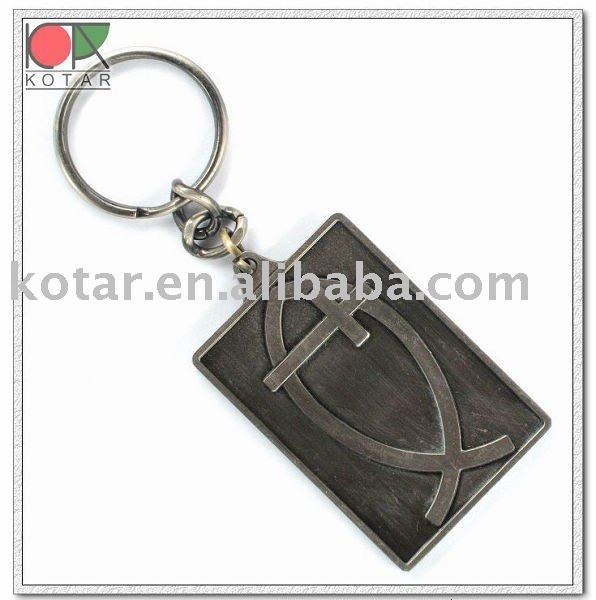 custom antique plating zinc alloy metal 3d metal keychain