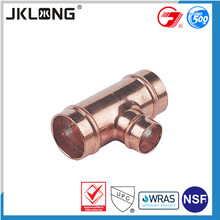 China factory price hot sell 3 way copper connector fitting,y tee copper pipe fitting