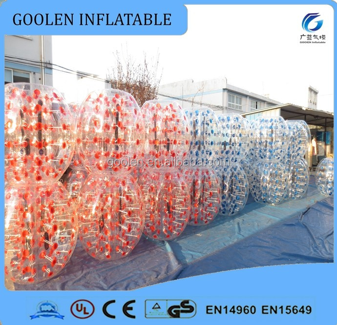 Inflatable body zorb ball, loopyball/bubble soccer TPU