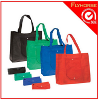 Foldable 4 color non woven tote shopping bags
