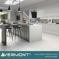 2018 Vermont New White High Gloss Paint Kitchen Island With Bar Kitchen Materials