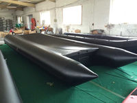 5-10 meters long boat aluminum salvage pontoon boat for 12 persons 1.2mm PVC