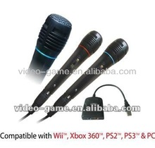 Wii Karaoke Microphone Compatible with Wii,Xbox360,PS3,PS3 & PC