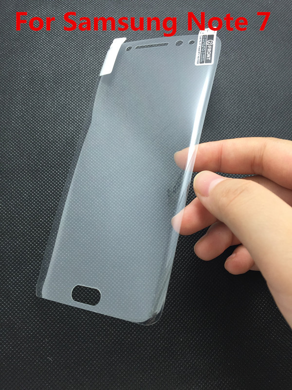 Full Cover Utlra Clear Soft Curved PET Screen Film For Galaxy Note 7