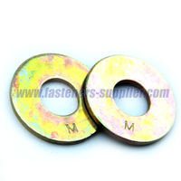 F436 Carbon Steel Yellow Zinc Plated Flat Washers