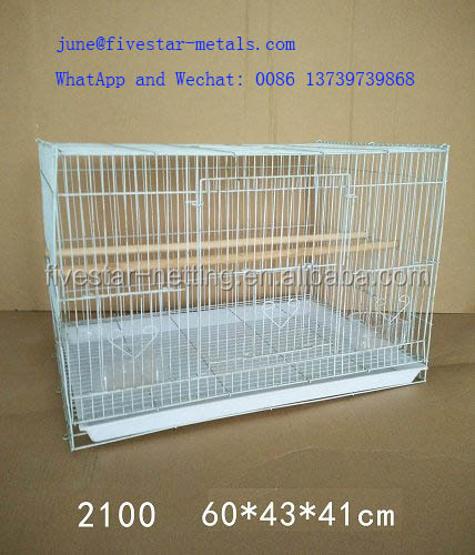 High quality powder coating wire cage foldable pet cage wedding bird cage in carton