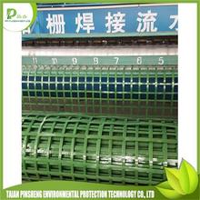 Hot Sell warp knitting polyester geogrid mesh with pvc coated