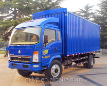 china 4x2 HOWO van Cargo Truck Light Trucks small cargo truck for sale