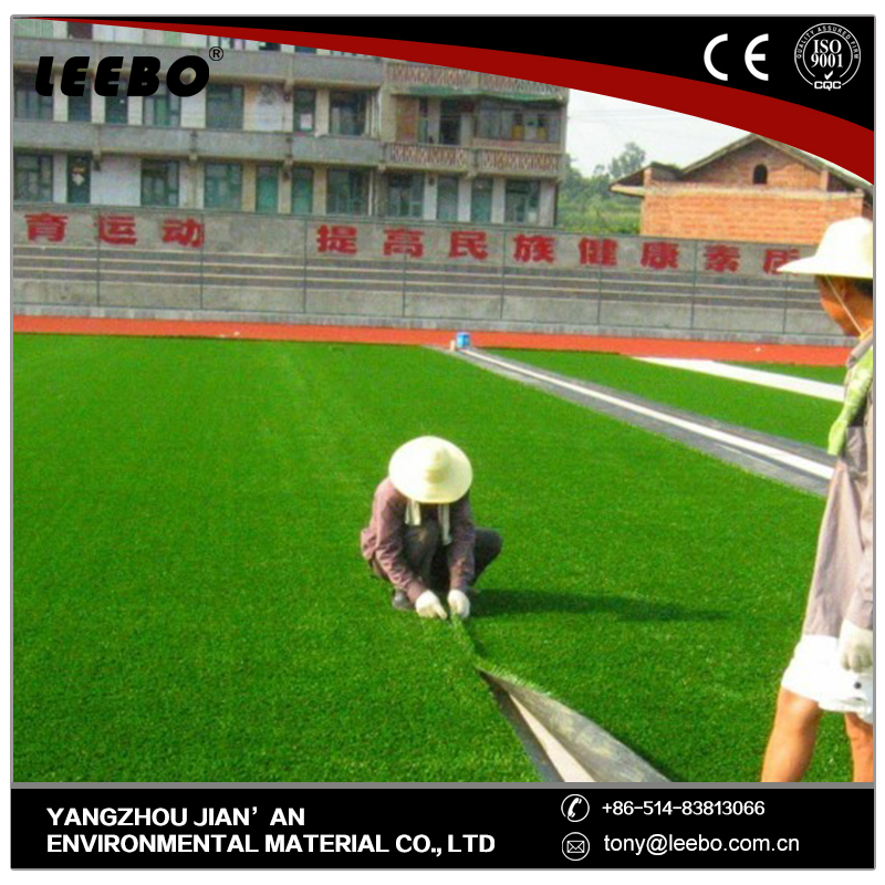 Comfortable outdoor synthetic artificial turf grass