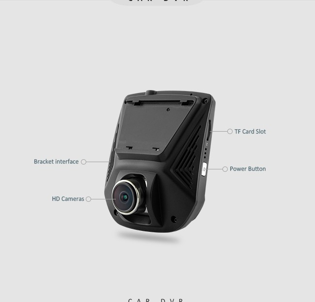 DOME A305D Full HD 1080P Hidden Dual Lens Car Dash Cam with WIFI Function
