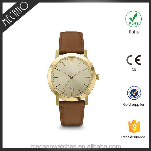 2016 japan movt quartz rose gold watch western watches stainless steel back water resistant 30m