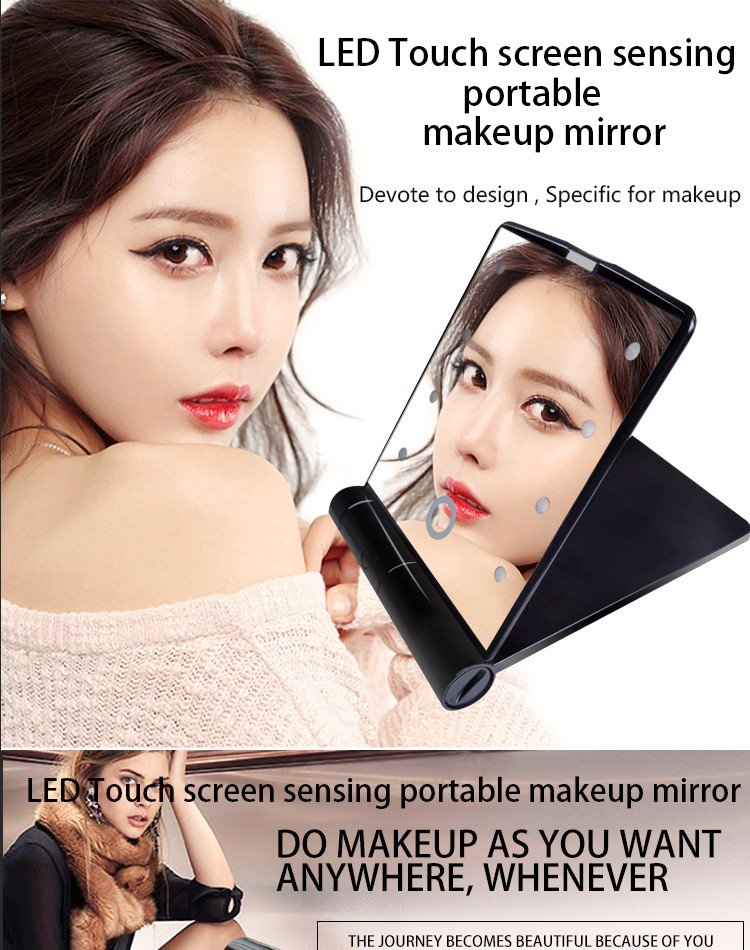 Low Price Fashional design Vanity Girl Hollywood Makeup Mirror with LED lights Wholesale