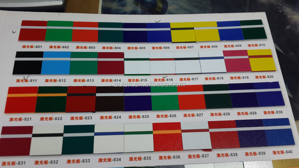 two color plastic abs sheet for sign materials