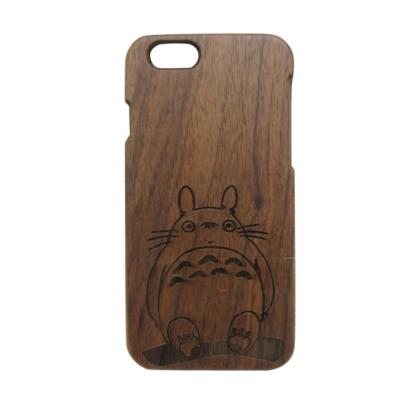 Handmade real carved manufacturer supplier real wood phone case hard protective back cover for iphone 6 6p