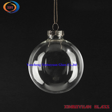clear glass christmas ball glass/christmas tree ball