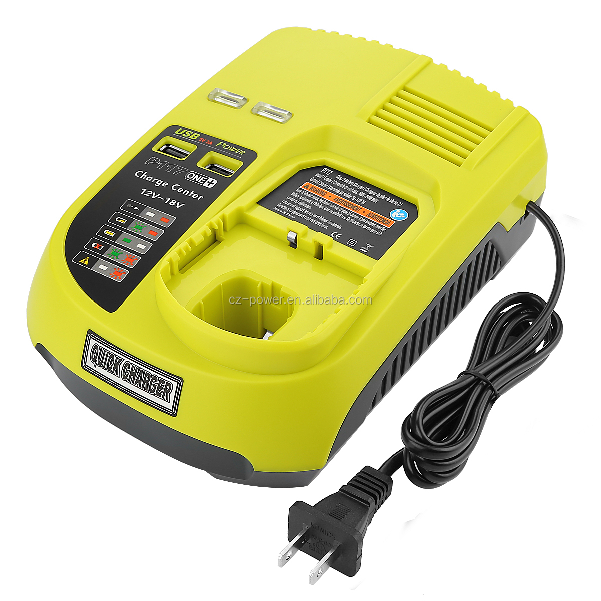 P117 Dual Chemistry IntelliPort Charger Li-ion & Ni-cad Ni-Mh Battery Charger 12V MAX and 18V MAX For Ryobi ONE Plus