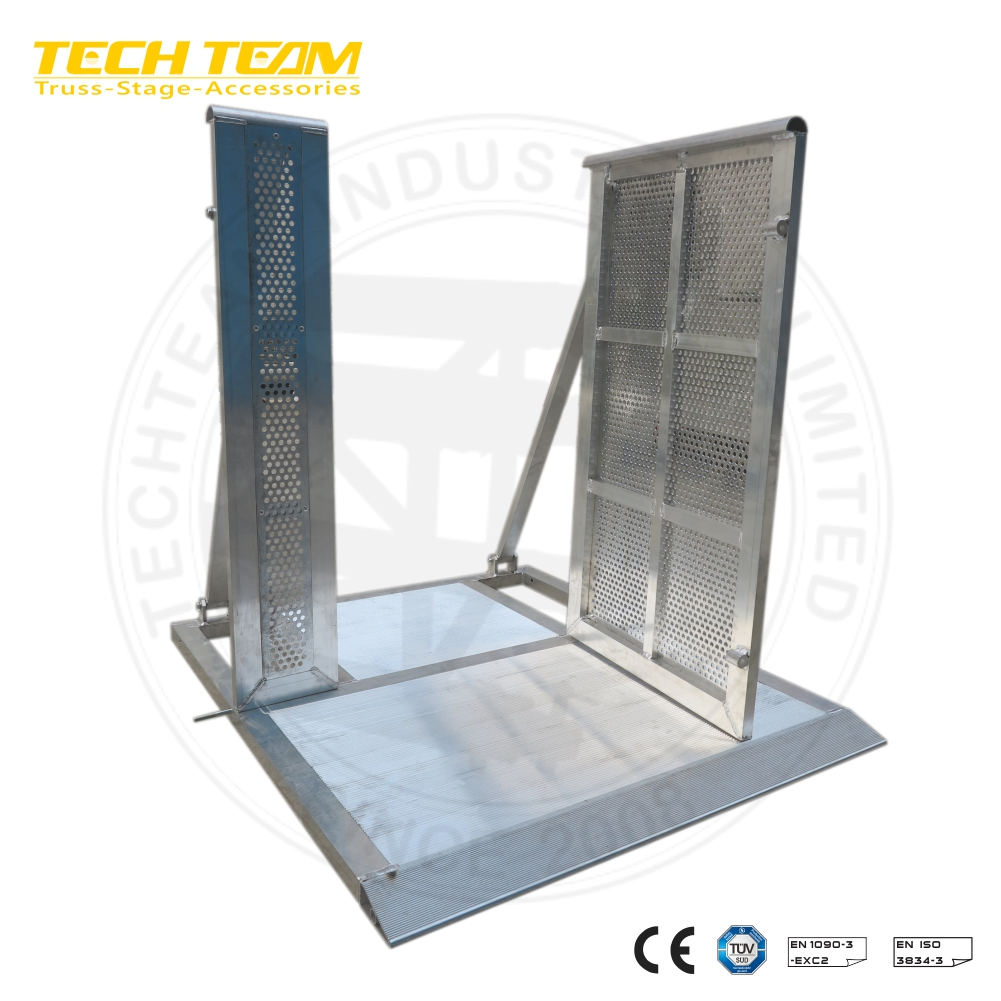 aluminum /Steel stage crowd control barrier