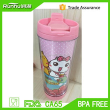 Eco-Friendly,Stocked 3d kids personalized plastic mugs RH136-12
