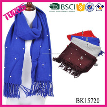 Solid color acrylic scarf decorations with beads