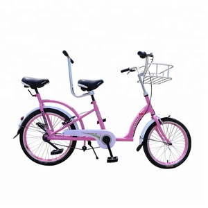 Two people double seats tandem bicycle surrey bike