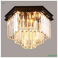 OGSCL78B Black iron and Clear crystal chandelier lighting E14 type chandelier lamp