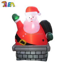 2017 Hot selling oxford cloth new designed inflatable santa claus