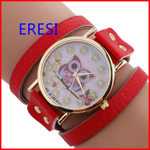 Wholesale Vintage Leather Watch Stocks Selling Wrap Bracelet Watch Accept OEM Order Fashion Lady Watch