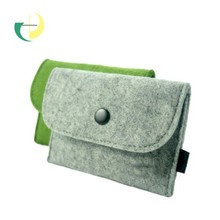 felt wallet bag made in polyester or wool