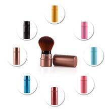 Metal Cosmetic Brush,Synthetic Hair Mini Makeup Blush Brush