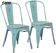 Charmant Add To Favorites. Industrial Distressed Iconic Metal Cafe Blue Dining Chair  Replica Xavi.
