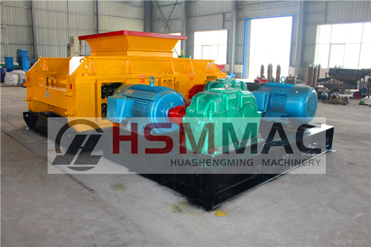 HSM ISO CE Double Toothed Roll Crusher Working