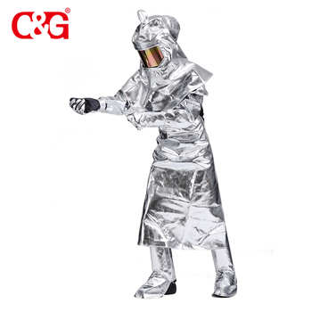 Unique design high temperature protective aluminized fire suit apron high temperature protection clothing