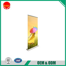 High Quality Cheap Alumminum material Telescopic Pole Double or Single Side A4 Tabletop Roll Up Banner with Wide Base
