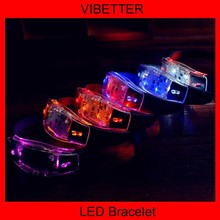 Funny glow in the dark fabric led bracelet for event