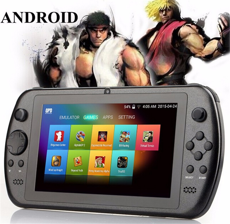Hot Selling handheld game player GPD Q88+ 7 inch touch screen android game console with gamepad wifi Support a lot games