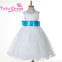 High quality white color fashion kids baby girl party wear dress for sale