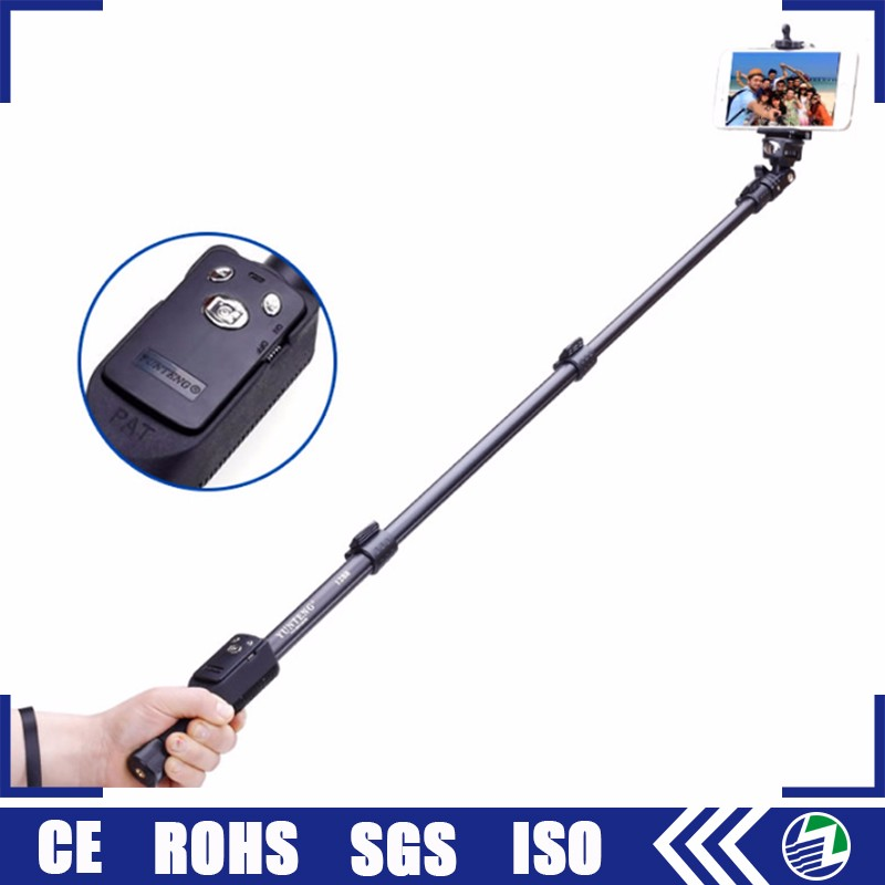 Multifunction flexible yunteng 1288 mini extendable hand held dslr camera smartphone bluetooth monopod selfie stick